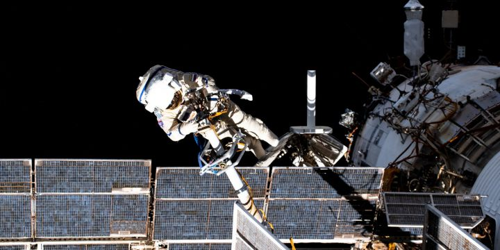 Watch Two Russian Cosmonauts Spacewalk Outside the ISS